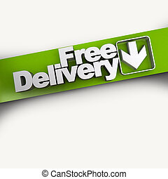Free delivery diagonal banner