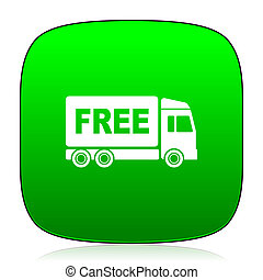 free delivery green icon