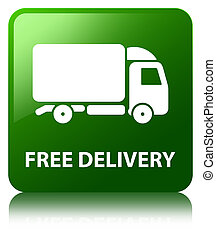 Free delivery green square button