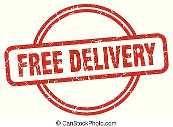 free delivery grunge stamp
