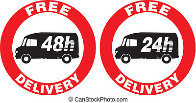 free delivery icon - Fast and efficient delivery courier -...