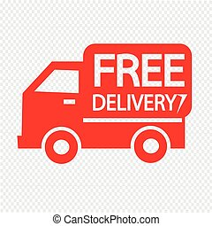 free delivery icon Illustration symbol design