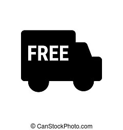 Free delivery icon isolated on white background. Vector illustration. Shipment car logo