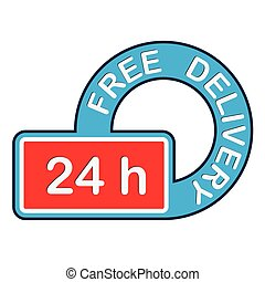 Free Delivery Icon. Logistics sign.