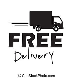 free delivery label over white background vector...