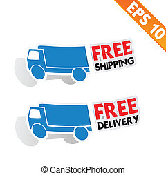 Free delivery logistic advertising transportation - Vector ...