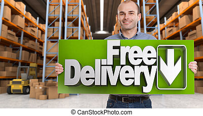 Free delivery, man
