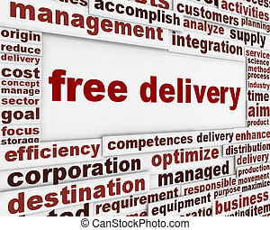 Free delivery message background