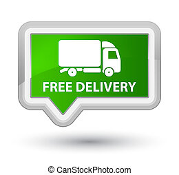 Free delivery prime green banner button - Free delivery ...