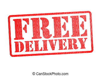 FREE DELIVERY Rubber Stamp over a white background.