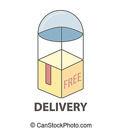 Free delivery service logo template.