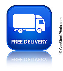 Free delivery special blue square button