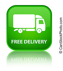 Free delivery special green square button