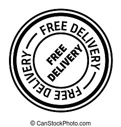 free delivery stamp on white