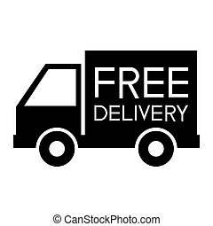 Free delivery support icon on white background