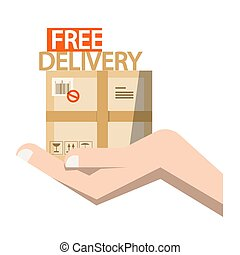 Free Delivery Symbol - Parcel in Hand