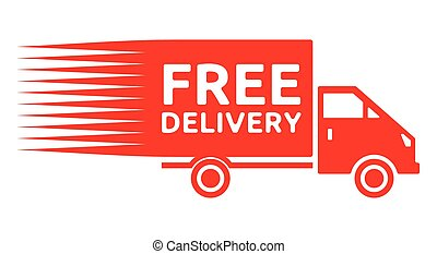 Free delivery truck - free shipping