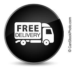 Free delivery truck icon elegant black round button