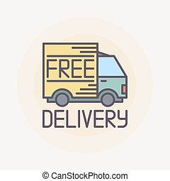 Free delivery truck illustration