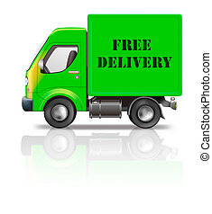 free delivery truck online order shipping from online...