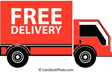 Free delivery truck vector icon