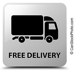 Free delivery white square button