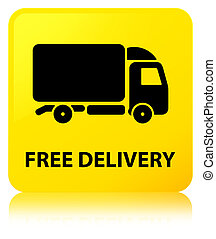 Free delivery yellow square button