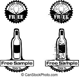 Free Drink Rubber stamp