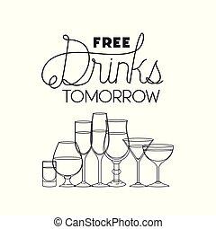 free drinks set icons