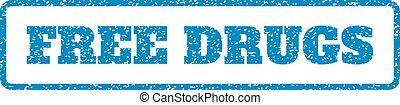 Free Drugs Rubber Stamp