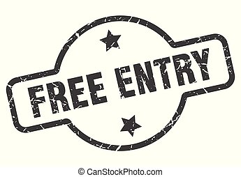 free entry sign