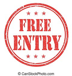 Free entry stamp