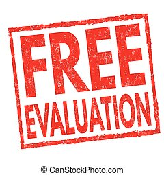 Free evaluation sign or stamp