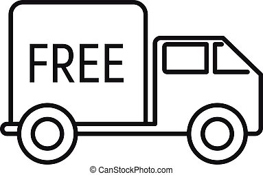 Free express delivery icon, outline style