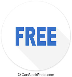 free flat design modern icon with long shadow for web and ...