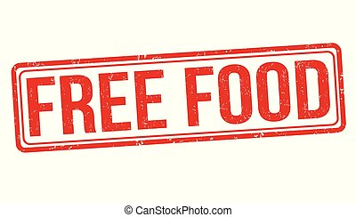 Free food grunge rubber stamp