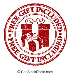 Free gift included stamp - Free gift included grunge rubber...