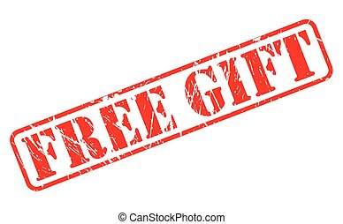 Free gift red stamp text