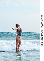 Free Girl in ocean