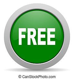 free green glossy web icon