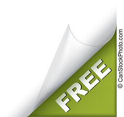 Free green page corner
