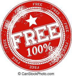 free grunge stamp vector