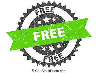 free grunge stamp with green band. free