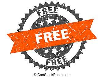 free grunge stamp with orange band. free