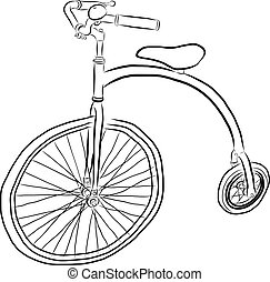 Free Hand Sketch of bicycle Vector