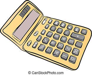 Free Hand Sketch of calculator Vector