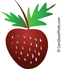 Free Hand Sketch of Strawberry Vector