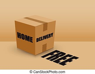 free home delivery card board box