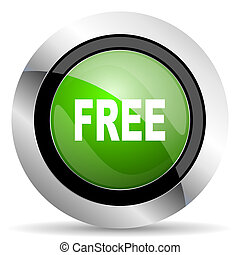 free icon, green button