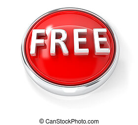 Free icon on glossy red round button